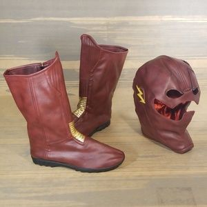 The Flash Ses 1 Barry Allen Cosplay Mask And Boots